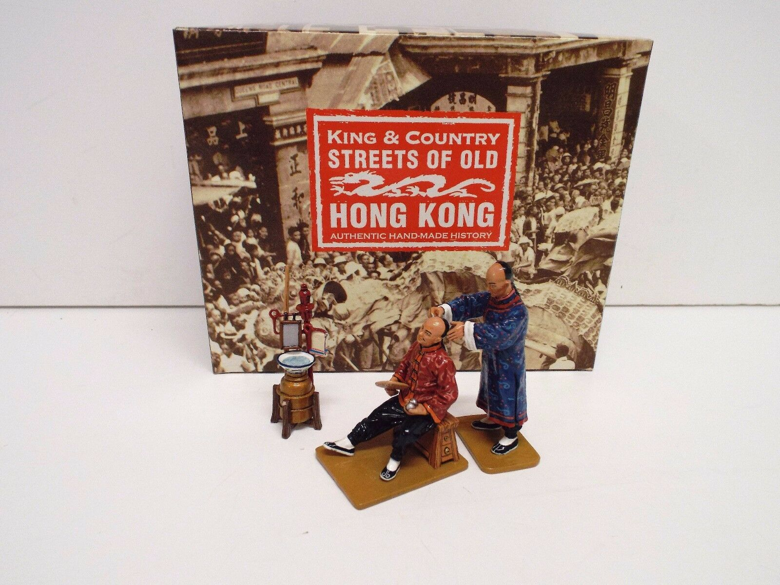KING AND COUNTRY HK157G S.O.O.H.K NEW STREET BARBER'S SET RETIRED BOXED (BS2117)