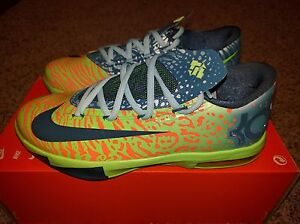 8a4814ef351be Nike KD VI 6 LIGER Electric Green Apple What The Aunt Pearl 9 Kids ...