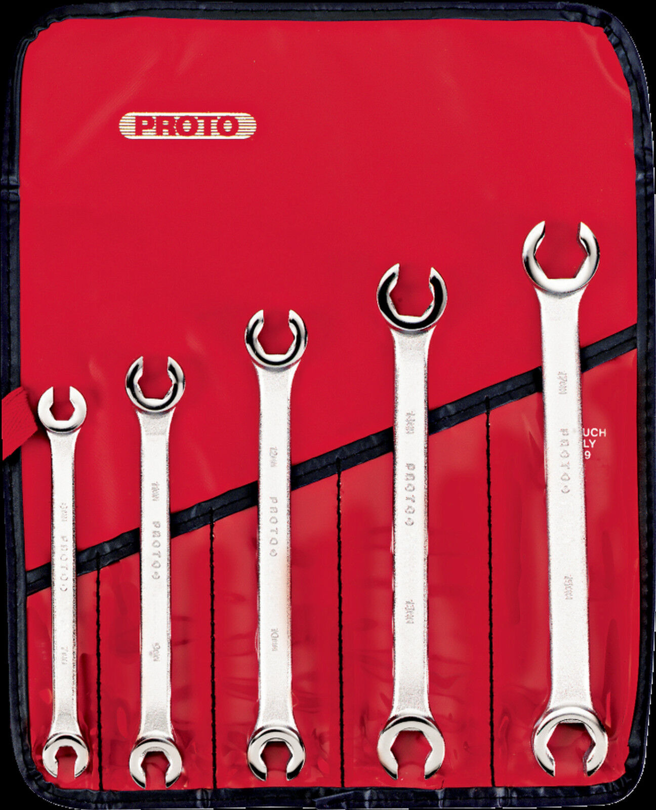 Proto® J3700M 5-Piece 6-Point Flare Nut Double End Metric Wrench Set Made in USA