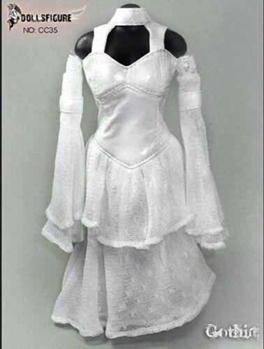 DOLLSFIGURE 1:6 Female White Wedding Dress Suit F 12/'/' Action Figure