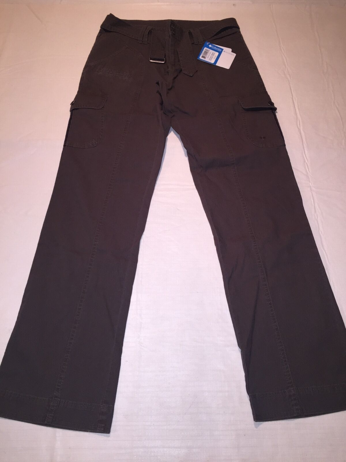 NWT Columbia Women's Get S'more Belted pants sz 6 Reg Drab Green ret.  55.00