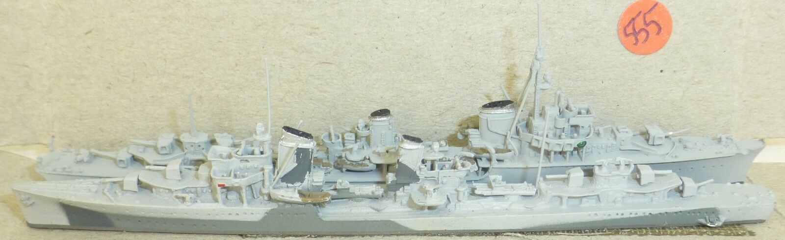 2 Destroyer neptun1062 +1084 z9-13 +Z25 1942 Ship Model 1 1250 SHP555 Å