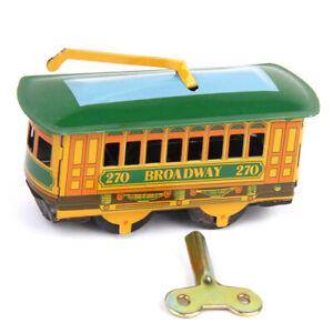 Carrello-da-tram-vintage-Streetcar-Tin-Toy-Collectible-Gift-con-chiave-di