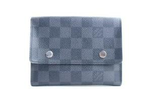 bfd406908211 Image is loading Louis-Vuitton-Damier-Graphite-Compact-Snap-Modulable -Wallet-