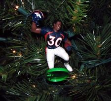 terrell DAVIS denver BRONCOS football NFL  xmas TREE ornament HOLIDAY vtg JERSEY