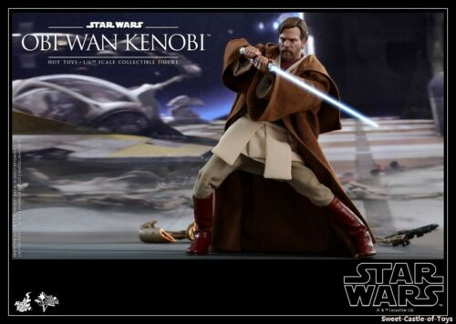 1//6 Hot Toys Star Wars EP3 Revenge of the Sith Obi-Wan Kenobi Figure MMS477