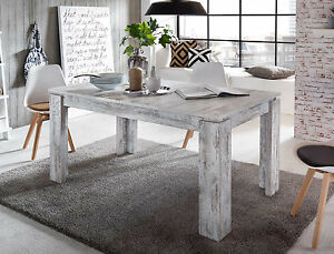 Das Bild Wird Geladen Esstisch Esszimmer Tisch Weiss Pinie Holz In Shabby