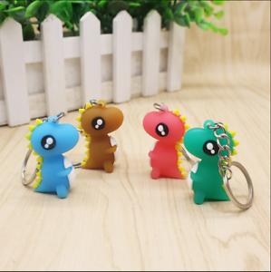 4Pcs-Set-3D-Cute-Cartoon-Dinosaur-Key-Chain-Women-Handbag-Charm-Pendant-Keyring