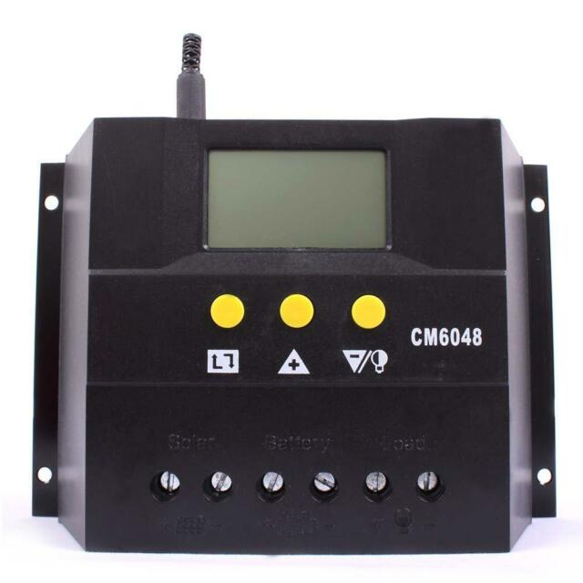 LCD 60A Solar Panel Battery Regulator Charge Controller 48V 2880W AutoSwitch MT
