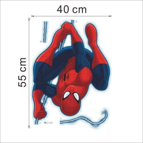 Removable 54*40cm PVC Spiderman Wall Sticker Room Decor Cartoon Art Decal