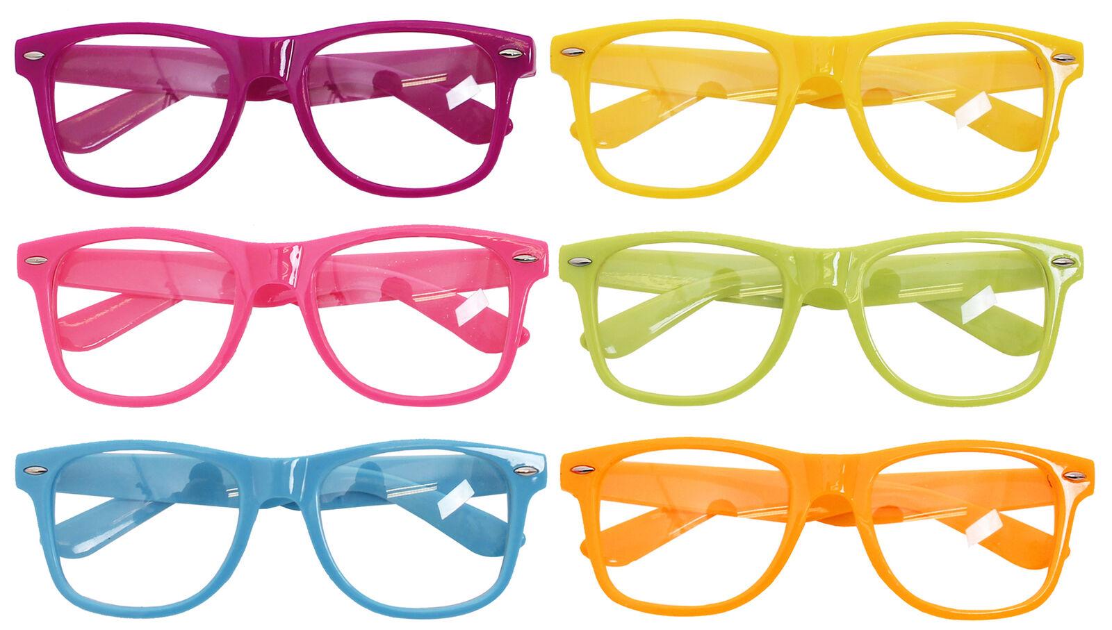 Unisex Nerd Joke Glasses Novelty Jam Jar Specs Fancy Dress Accessory Thick Lens