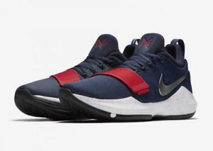 91ed898006c Nike PG1 Mens Size Basketball Shoes Blue 878627 900 Red White blue ...