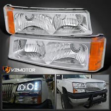 For 2003 2006 Chevy Avalanche 03 07 Silverado Bumper Lights Parking Signal Lamps Fits More Than One Vehicle