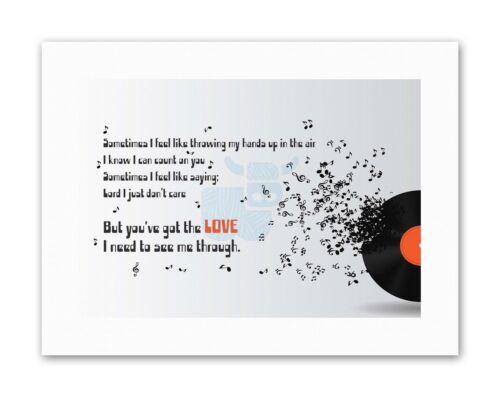 SOMETIMES MUSIC LYRICS YOUVE GOT LOVE TYPOGRAPH Quote Music Canvas art Prints