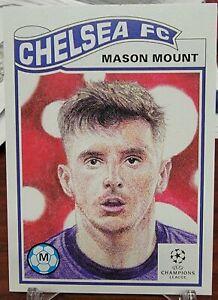 TOPPS UCL SOCCER UEFA LIVING SET CARD CHELSEA FC MASON MOUNT #317