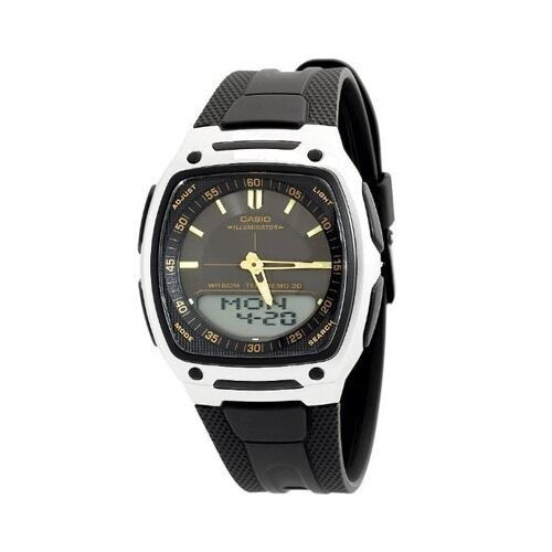 Casio AW-81-1A2V Men's Analog-Digital Black Dial Silicone Rubber Dress Watch