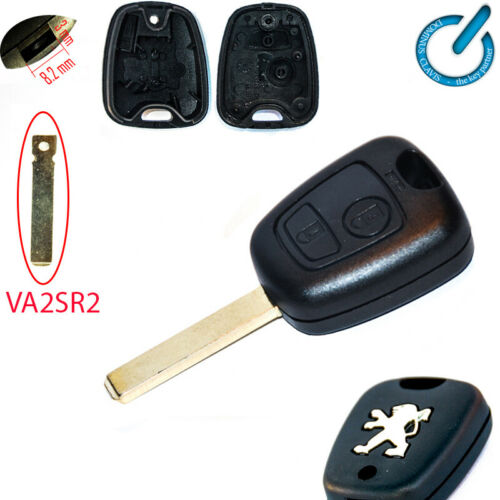 PEUGEOT 107 207 307 407 406 306 PARTNER key shell VA2SR2 CARCASA MANDO LLAVE