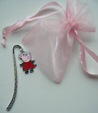 PEPPA PIG BOOKMARK BIRTHDAY GIFT PARTY BAG FILLER PRIZE IN ORGANZA GIFT BAG