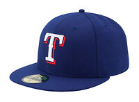 New Era 59Fifty MLB Cap Texas Rangers AC On Field Fitted Game Hat - Royal Blue