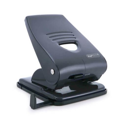 Rapesco Punch 2-Hole Metal Heavy-duty with Handle 40x Black