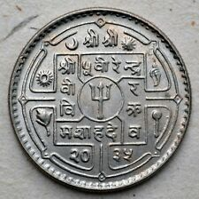 NEPAL TIBET SHAKYA MUNI RARE Crowned BUDDHA GOOD LUCK TOKEN COIN UNC scarce