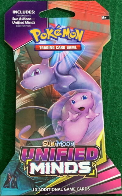 Pokemon Unified Minds1 Open Booster PackTrading Card Game Sun /& Moon TCG