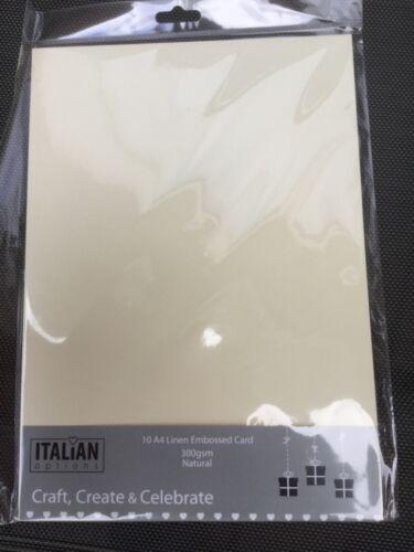 10 X A4 cartulina crema llinen calidad de doble cara tarjeta 300gsm artes y oficios