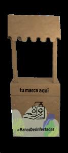 STAND-MOSTRADOR-CON-TOLDO-PERSONALIZADO-DE-CARToN-PARA-DESINFECCIoN-MANOS