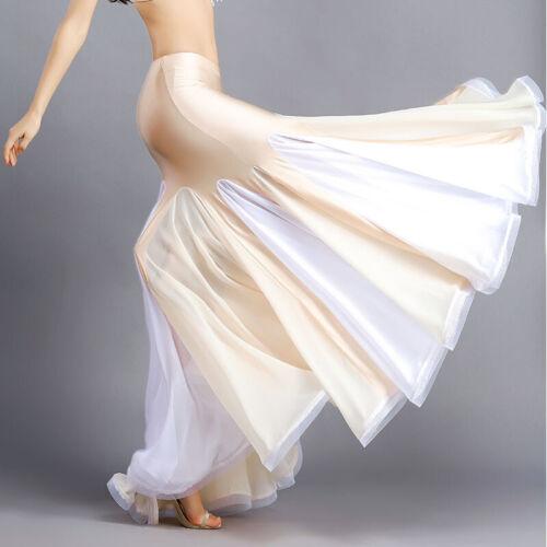 C260 danza del ventre costume doppio turno-Hüftrock con sirena ottica volant gonna