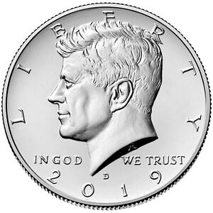 KENNEDY HALF DOLLAR // 2017 P/&D JOHN F FROM MINT ROLLS 2 Coin Set UNCIRCULATED