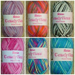 Knitting Wool 200g Candyfloss Super Chunky Yarn Robin Free Childrens