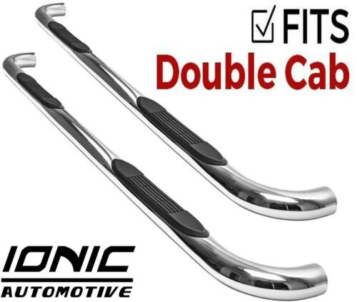 """Ionic 3/"""" Stainless 2005-2018 Toyota Tacoma Double Cab Nerf Bars Steps fits"""