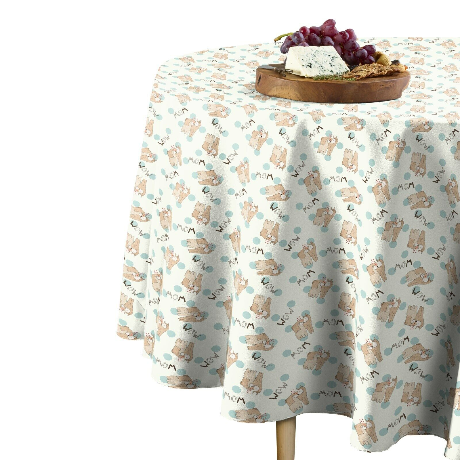 Lama Mom Toss Signature Round Tablecloth Assorted Größes