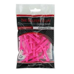 The-Golfers-Club-Golf-Graduated-Pink-Plastic-Tees-2-25-Inch-x-25