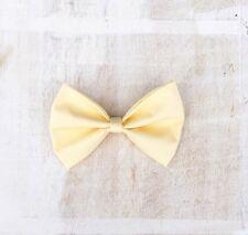 Pastel Yellow Summer Pin up Hair Bow Kawaii