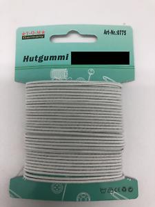 Cinta elástica alrededor hutgummi goma gummilitze dono 8,5m lavables 1mm blanco