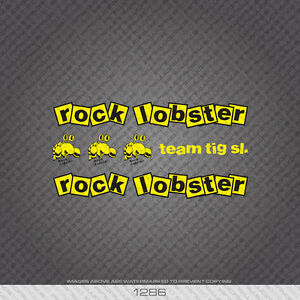 Rock Lobster Bicycle Decals Transfers  Stickers Set 1