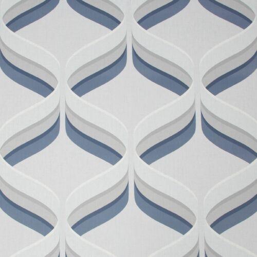 Fresco Retro Ogee Navy Geometric Wallpaper