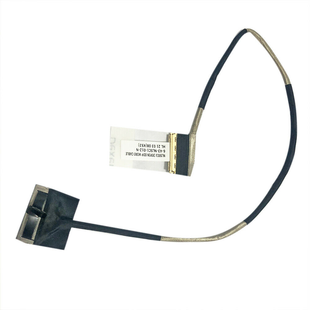 for CLEVO NL50 NL50CU EDP LCD Screen Video CABLE 6-43-NL5C1-013-1N 30Pin fs