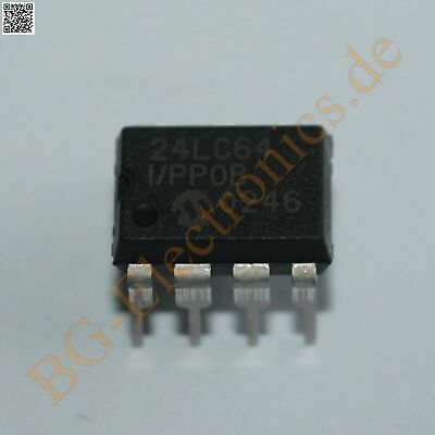 Dip8 24Lc64 24LC64-I//P Microchip Eeprom Serial 64K