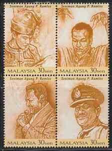 236Se-MALAYSIA-1999-P-RAMLEE-ARTIST-SUPREME-OF-MALAYSIA-SHEETLET-SET-4V-MNH