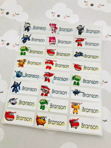 72 Super Wings Personalized Waterproof Name Labels