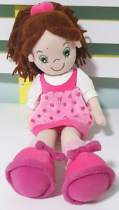 Korimco-Girl-Doll-in-Pink-Dress-Plush-Toy-39cm-Tall