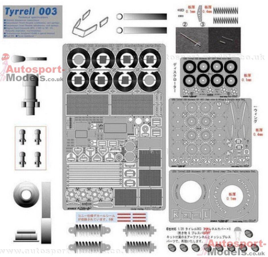 1 20 AcuStion Tyrrell 003 Monaco multi media detailing set for Ebbro kit  A9988
