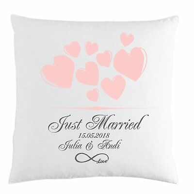 Kissen Just Married Personalisiert Namen Datum