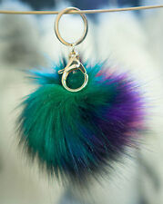 Keyring Pompom Keychain Ball Faux Fur 12cm Ball Monster Soft Fluffy Charm Dangle