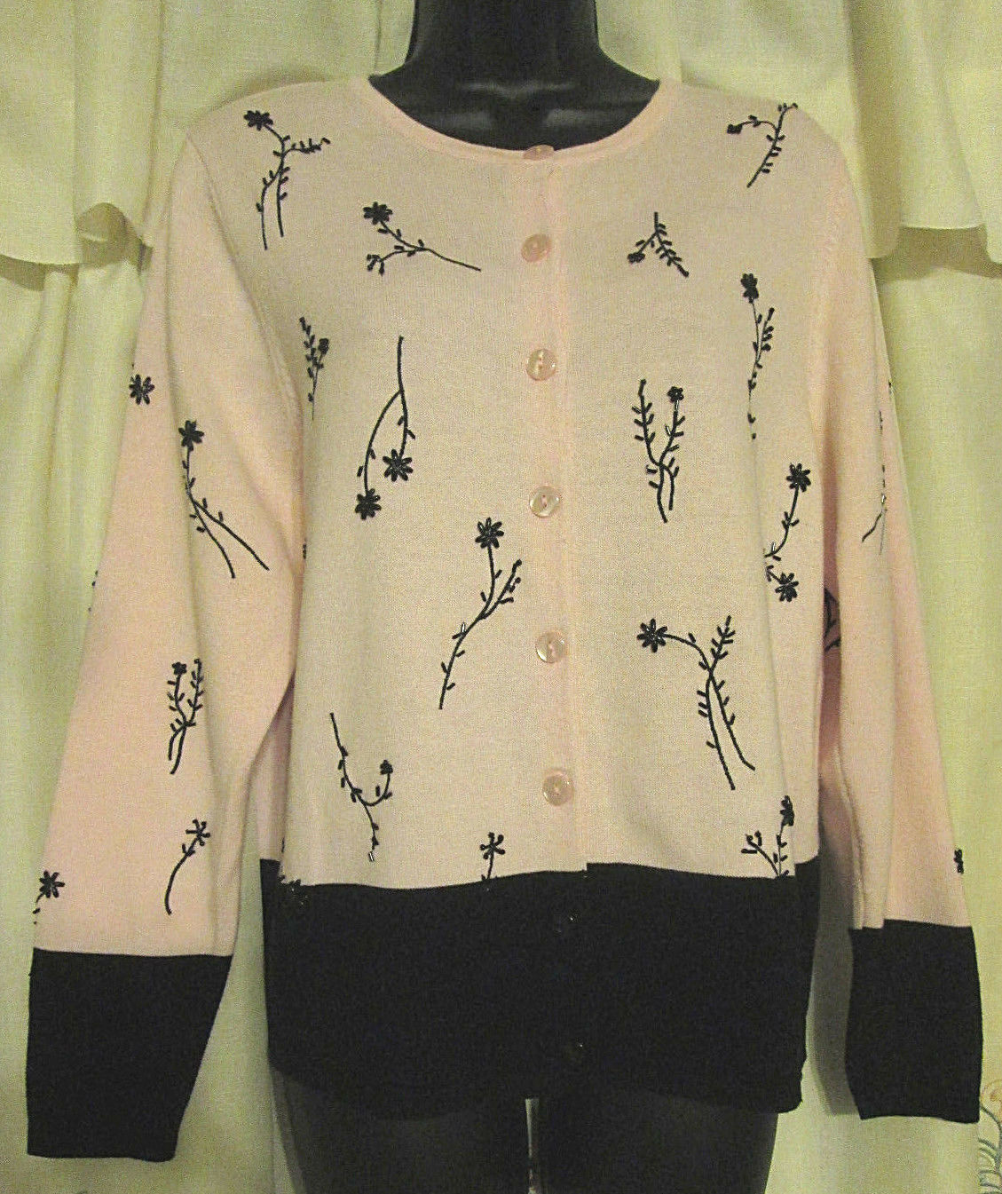 Dressbarn Button Up S Cottagecore Embroidered Sw… - image 2