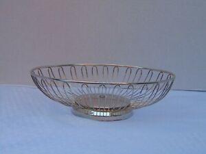 Godinger Silver Art Co Silver Plate Wire Oval Bread Basket Fruit Bowl Ebay