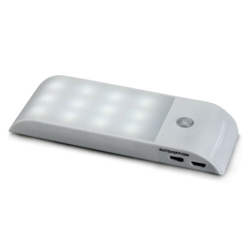 LED USB Wiederaufladbare PIR Bewegung Induktion Sensor Schrank Nachtlicht Lampe