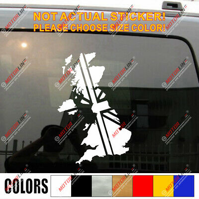 Map and Flag of UK British Union Jack Car Decal Sticker